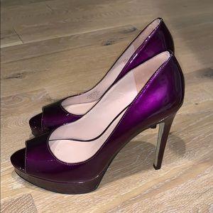 Purple platform high heels 👠 Worn once